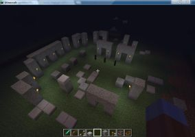 Minecraft World Monument Challenge: Stonehenge by Andyi
