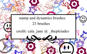 Stamp and Dynamics brushes by calajane