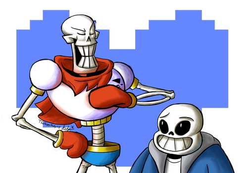 Skeleton Bros by TheHappyAndying