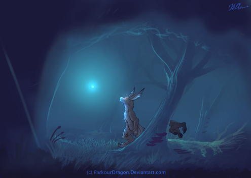 Thatch in the woods by ParkourDragon