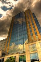 Cloudy Tower Front by JohnDoe6