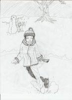 Hinata and naruto snow day by HaybailScott