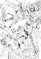 Convoy, Rodimus and Rodimus Convoy__ink by marble-v