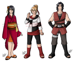 Older Yamamoto Children - All Together by mistressmaxwell