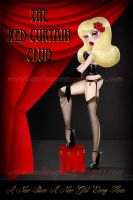 The Red Curtain Poster by sexyillustrator