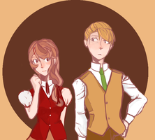 Timeskip!: Clive and Flora by applesandpeaches