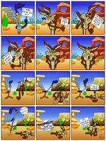 Wile E and Roadrunner's 67th Anniversary Comic by Zgrooz