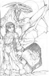 girl and her dragon by spyda-man