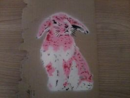 pink bunny by I0shi