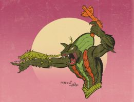 Kobra Khan and his pet, Fang. by Axel-Gimenez