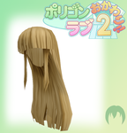 Pl2-To-MMD Long Blonde Hair by Anime-Base-Creator