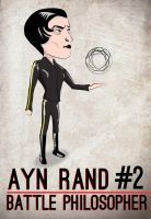 Ayn Rand : Battle Philosopher #2 by daverazordesign