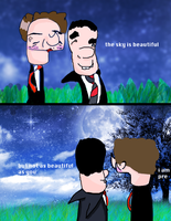 kurt and blaine by the moon by TheQueerateKid