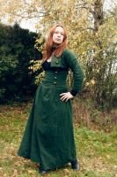 Green steampunk - High waisted skirt and bolero by sombrefeline
