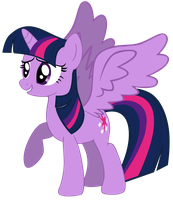 My fourth Twilight Sparkle vector, version 7. by Flutterflyraptor