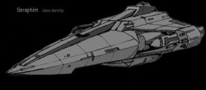 Seraphim class starship by Andared