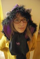 Scarf with hood and cat's ear ^^ by enairan