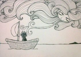 The Wind in His Sails.wip by ImagineArtVibes