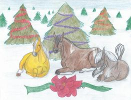 Christmas Herd 2 by shekeira