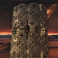 MB3D 006 Mandelbulb tower by Mariagat