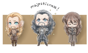 Chibi Durins by FlorideCuts