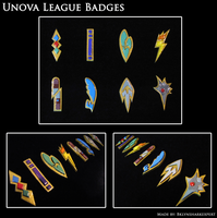 Unova League Badges by BklynSharkExpert