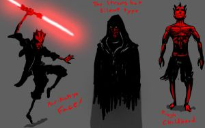 Darth Maul Concepts by SHARK-E