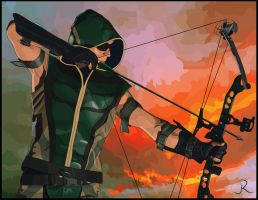 Green Arrow by SpideyVille
