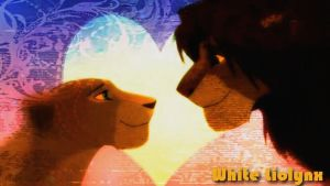 Nala and Simba It is all quiet by WhiteMadness