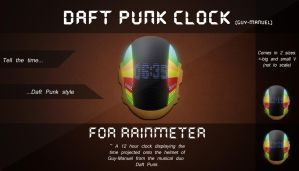 Rainmeter- Daft Punk Clock (Guy-Manuel) by H-Thomson