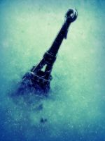 mini eiffel in the snow by mysteriousfantasy