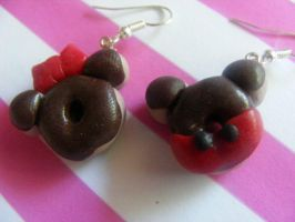 Mickey and Minnie mouse dounut by musicaldeaths