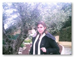 Me and the Olive tree by OrangiCat2010