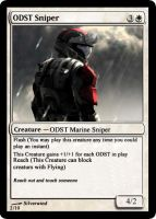 ODST Sniper MTG Card by Silverwind91