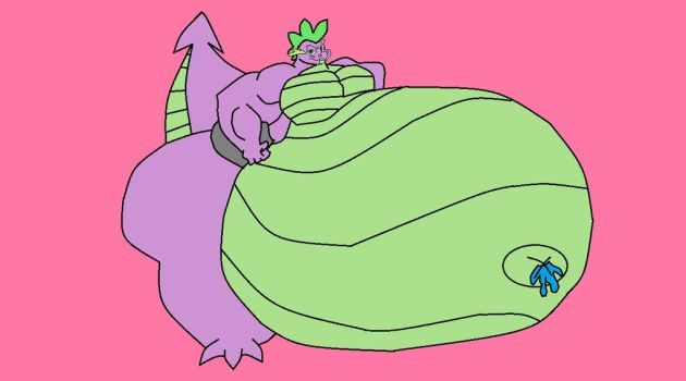 Spike the sexy sumoen malequeen (Colored Version) by FoxPrinceAgain