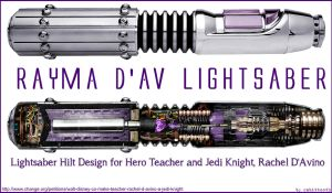 Rayma D'Av Lightsaber Design by Rabittooth