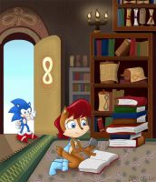 Sonic SatAM - The Library by kaikaku