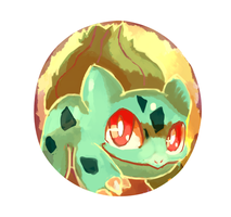 Bulbasaur Button Design by LizardonEievui13