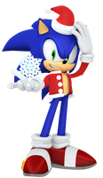 2016 Christmas Sonic Render by JaysonJean