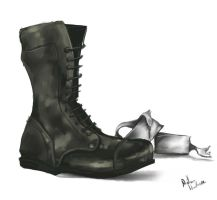 Boots and bandages by hawthornearts