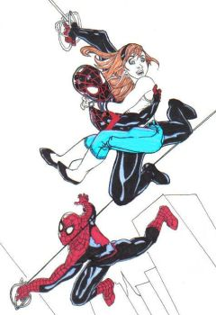 Spider-Man and Ultimate Spider-Man and Gwen Stacy by flight25
