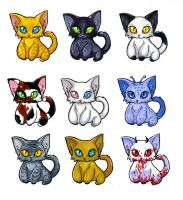 Kitten Stickers by glance-reviver