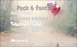 6 Fonts Pack||Recopilation.zip by Ainara-Creations