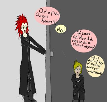 Come out of the closet Roxas by GrimLyokoDemon