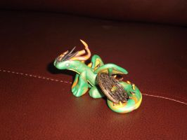 Green and gold dragon2 by spot1the2dog3
