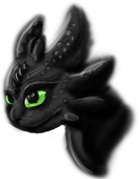 (Sketch) Toothless by GoldenGriffiness