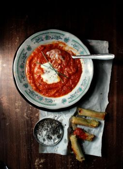 Roasted Tomato and Red Pepper Soup by sasQuat-ch