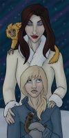 Ms. Coulter and Lyra by Tephers