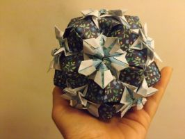 Blue Flower Kusudama by lovechairmanmeow
