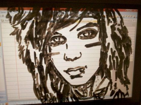 andy on my laptop screen *dry erase* by lifesucksemogirl1